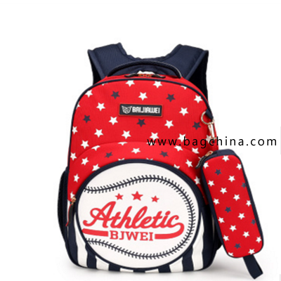 Dots and stripes school bag