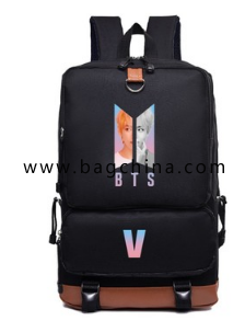 BTS Youth League  casual  nylon backpack