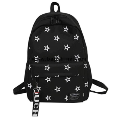 Unisex Fashion Star Pattern Backpack Outdoor Travel Backpack