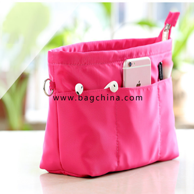 Double zipper collecting bag multi-functional cosmetic bag with factory wholesale price